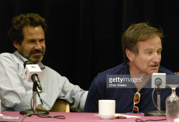 Dennis Miller and Robin Williams during Seventh Annual Andre Agassi Charitable Foundation's Grand Slam for Kids at MGM Grand Hotel in Las Vegas NV...