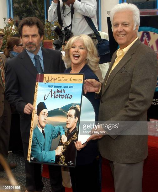 Dennis Miller Connie Stevens and Jack Jones during Bob Hope Named Citizen of The Century by The Hollywood Walk of Fame at The Hollywood Walk of Fame...