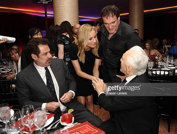 Dennis Miller Diane Kruger Quentin Tarantino and Kirk Douglas attend Santa Barbara International Film Festival's Kirk Douglas Award gala at Biltmore...