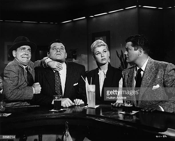 Dennis Morgan Jack Carson and Doris Day star in 'It's A Great Feeling' directed by David Butler for Warner Bros