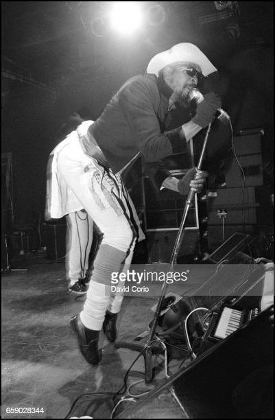 Dennis Morris lead singer of Basement 5 performing at the ICA, London, United Kingdom, 3 January 1981.