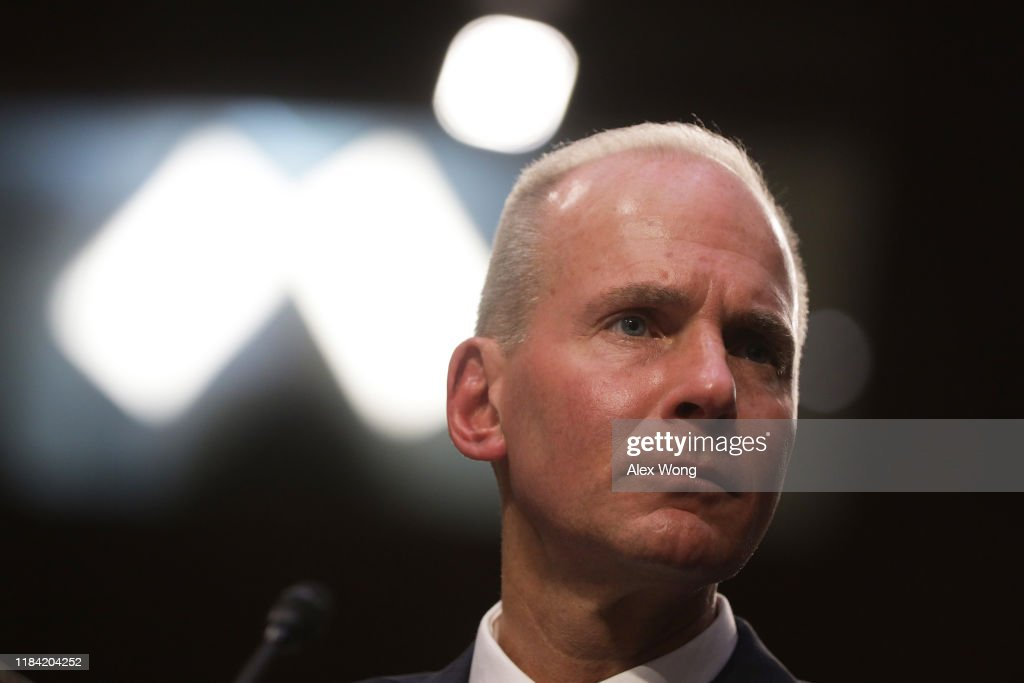 Boeing CEO Dennis Muilenburg Testifies Before Senate Committee On 737 Max Jets : News Photo