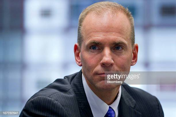 Dennis Muilenburg president of Boeing Co's defense unit listens during an interview in New York US on Wednesday Dec 1 2010 Boeing Co the...