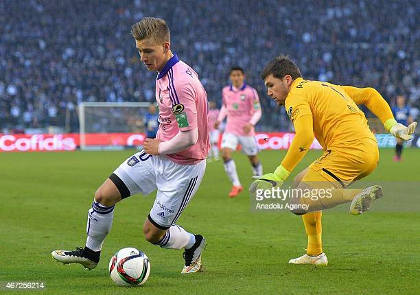 Dennis Praet of Anderlecht in action during the Belgian Cup final between Club Brugge and RSC Anderlecht at the King Baudouin stadium in Brussels...