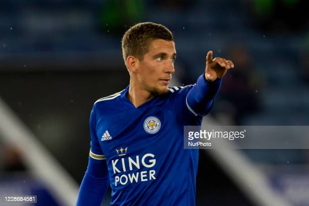 Dennis Praet of Leicester City during the Carabao Cup match between Leicester City and Arsenal at the King Power Stadium Leicester England on 23rd...