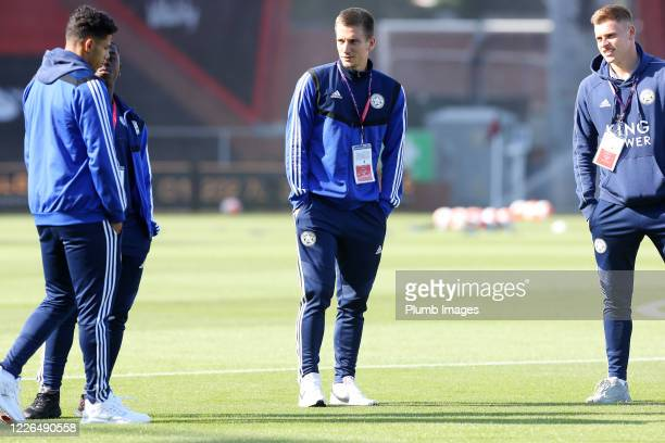 Dennis Praet of Leicester City Harvey Barnes of Leicester City James Justin of Leicester City and Nampalys Mendy of Leicester City at Vitality...