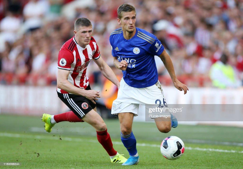 Sheffield United v Leicester City - Premier League : Nieuwsfoto's