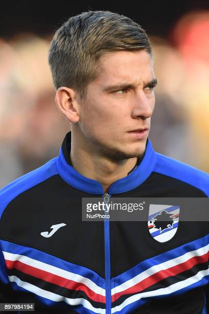 Dennis Praet of UC Sampdoria during the Serie A TIM match between SSC Napoli and UC Sampdoria at Stadio San Paolo Naples Italy on 23 December 2017