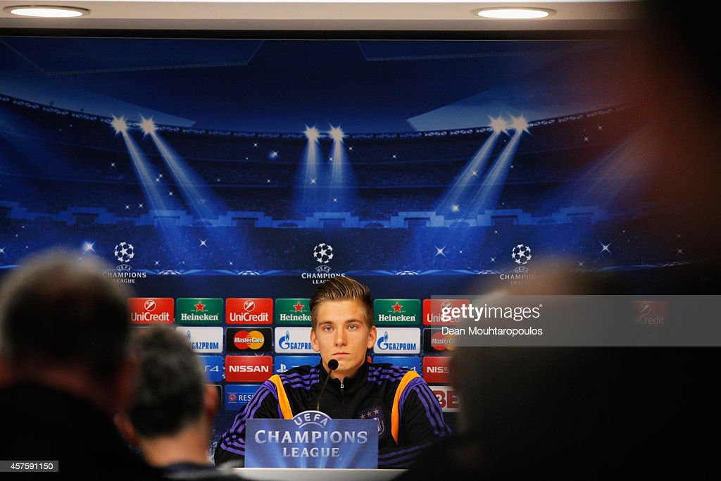 RSC Anderlecht Press Conference and Training Session