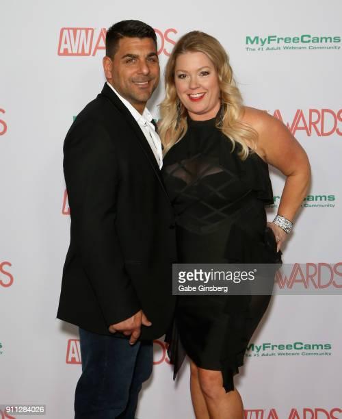 Dennis Precioso and Christina Precioso attend the 2018 Adult Video News Awards at the Hard Rock Hotel Casino on January 27 2018 in Las Vegas Nevada
