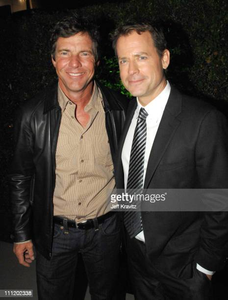 Dennis Quaid and Greg Kinnear at the Feast of Love after party at The Academy of Motion Picture Arts and Sciences on September 25 2007 in Los Angeles...