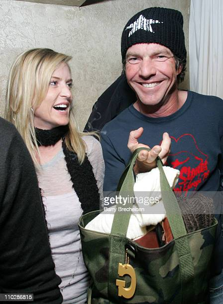 Dennis Quaid and Kimberly Buffington during 2006 Park City The Illusionist After Party at Premiere Lounge in Park City Utah United States