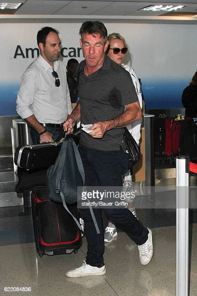 Dennis Quaid and Kimberly Quaid are seen at LAX on November 09 2016 in Los Angeles California