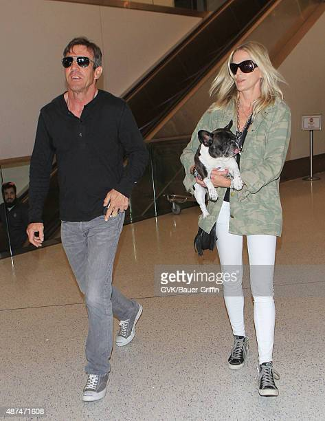 Dennis Quaid and Kimberly Quaid are seen at LAX on September 09 2015 in Los Angeles California