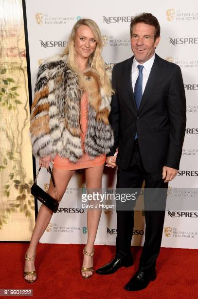 Dennis Quaid and Kimberly Quaid attend the EE British Academy Film Awards nominees party at Kensington Palace on February 17 2018 in London England