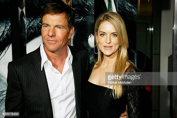 Dennis Quaid and Kimberly Quaid attend VANTAGE POINT World Premeire at AMC Lincoln Center on February 20 2008 in New York City