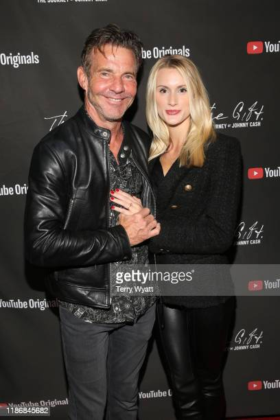 "Dennis Quaid and Laura Savoie attend CASH FEST In Celebration Of YouTube Originals Documentary ""THE GIFT: THE JOURNEY OF JOHNNY CASH"" at War Memorial..."