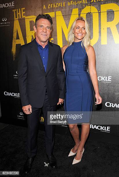 Dennis Quaid and Santa Auzina attend the 'The Art Of More' Season 2 Premiere at Museum Of Arts And Design on November 15 2016 in New York City