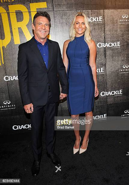 "Dennis Quaid and Santa Auzina attend the ""The Art Of More"" Season 2 Premiere at Museum Of Arts And Design on November 15, 2016 in New York City."