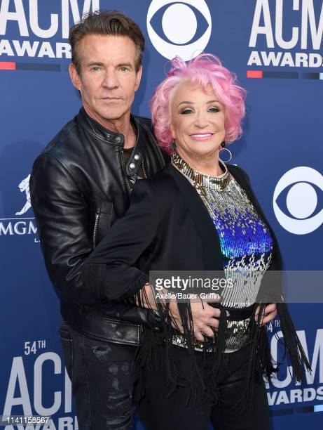 Dennis Quaid and Tanya Tucker attend the 54th Academy of Country Music Awards at MGM Grand Garden Arena on April 07, 2019 in Las Vegas, Nevada.