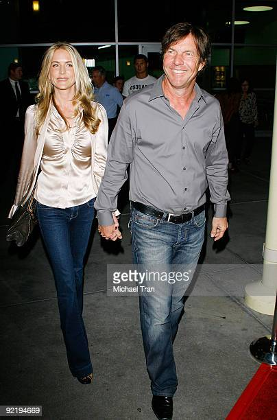 Dennis Quaid and wife Kimberly Quaid arrive to the 'One Peace At A Time' a Los Angeles benefit screening held at ArcLight Cinemas on October 21 2009...