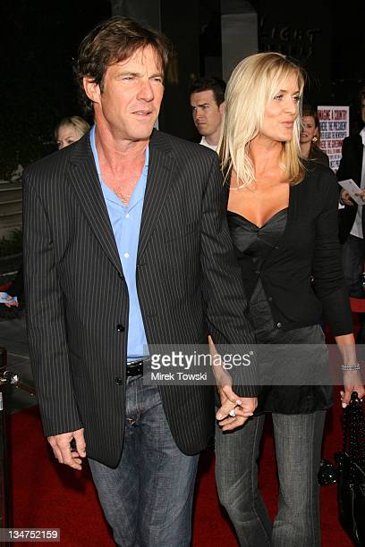 Dennis Quaid and wife Kimberly Quaid during 'American Dreamz' Los Angeles Premiere Arrivals at Arclight Cinerama Dome in Hollywood CA United States