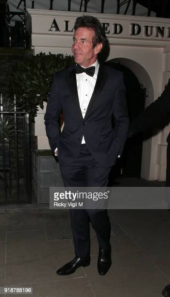 Dennis Quaid attends the Dunhill GQ preBAFTA filmmakers dinner and party cohosted by Andrew Maag Dylan Jones at Bourdon House on February 15 2018 in...