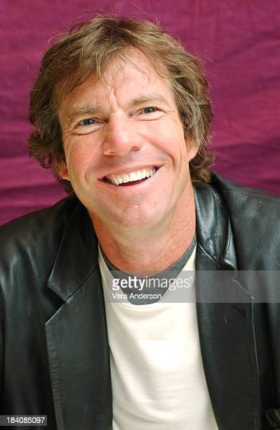 Dennis Quaid during In Good Company Press Conference with Dennis Quaid Topher Grace and Paul Weitz at Four Seasons Hotel in Los Angeles California...