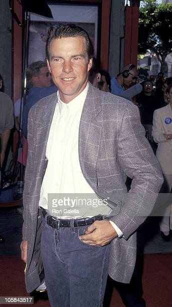 Dennis Quaid during 'Wyatt Earp' Los Angeles Premiere at Mann's Chinese Theater in Hollywood California United States