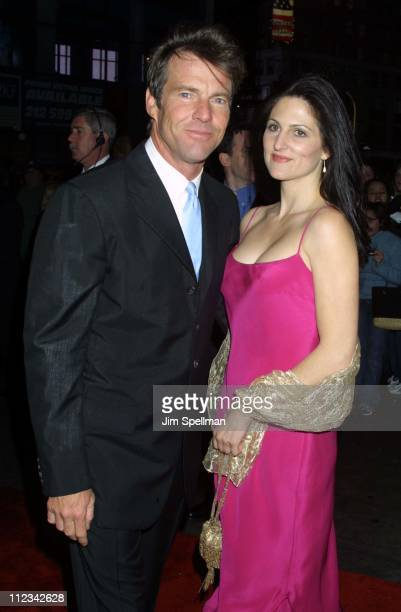 Dennis Quaid girlfriend Cynthia Garrett during Premiere After Party For Disney's The Rookie At ESPN Zone at ESPN Zone in New York City New York...