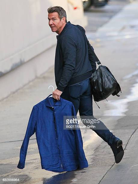 Dennis Quaid is seen at 'Jimmy Kimmel Live' on January 23 2017 in Los Angeles California