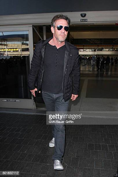 Dennis Quaid is seen at LAX on December 17 2015 in Los Angeles California