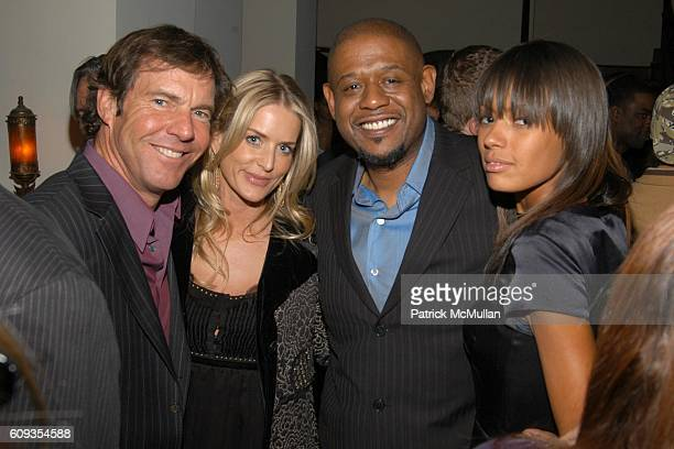 Dennis Quaid Kimberly Buffington Forest Whitaker and Keisha Whitaker attend HBO's Annual PREGOLDEN GLOBES Reception at Chateau Marmont on January 13...