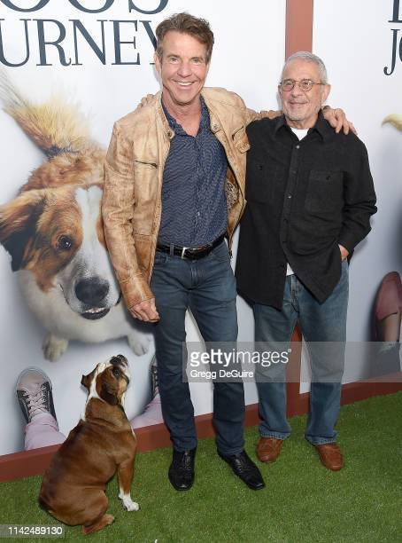 Dennis Quaid Peaches and Ron Meyer arrive at the Premiere Of Universal Pictures' A Dog's Journey at ArcLight Hollywood on May 9 2019 in Hollywood...