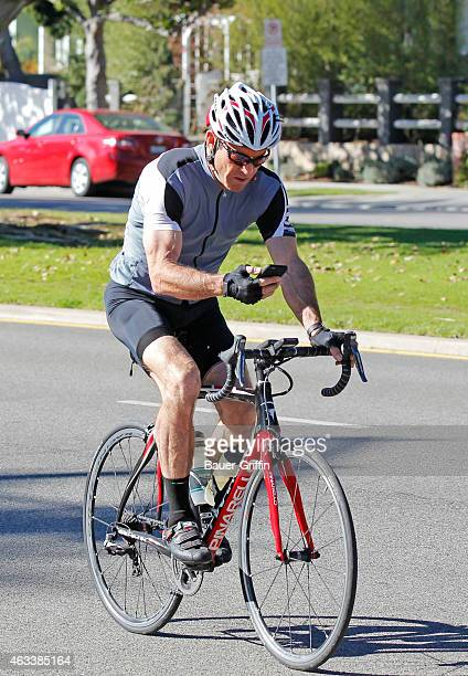 Dennis Quaid seen cycling on February 13 2015 in Los Angeles California