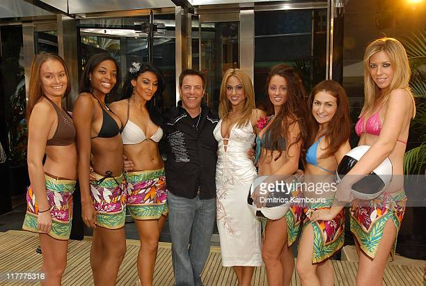 Dennis Riese and models during Opening Celebration for Hawaiian Tropic Zone at Hawaiian Tropic Zone in New York City New York United States