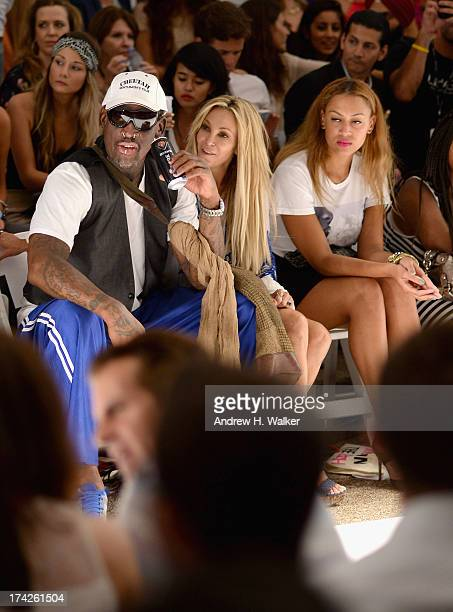 Dennis Rodman Alexis Rodman and Lisa Pliner attend the Anna Kosturova/Beach Riot/Lolli Swim/Manglar/Indah show during MercedesBenz Fashion Week Swim...