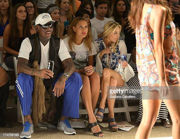 Dennis Rodman Alexis Rodman and Lisa Pliner attends Anna Kosturova/Beach Riot/Lolli Swim/Manglar/Indah show at MercedesBenz Fashion Week Swim 2014 at...