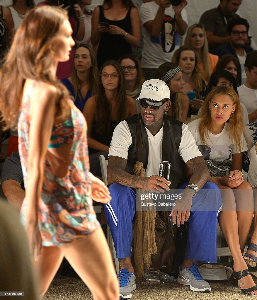Anna Kosturova/Beach Riot/Lolli Swim/Manglar/Indah At Mercedes-Benz Fashion Week Swim 2014 - Front Row : News Photo