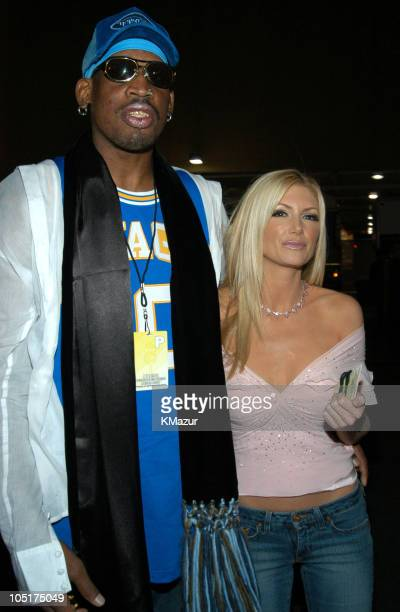 Dennis Rodman and Brande Roderick during 2003 Radio Music Awards - Arrivals and Backstage at The Aladdin Hotel and Casino in Las Vegas, Nevada,...