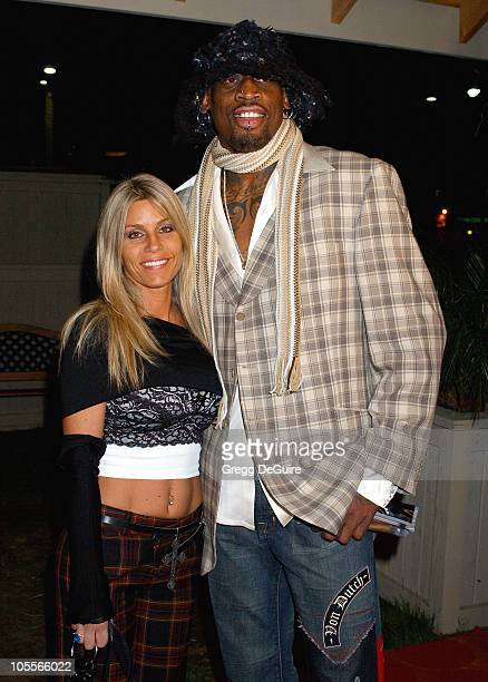 Dennis Rodman and wife Michelle during Dennis Rodman's VIP Restaurant Grand Opening and Burlesque Show at Rodman's Restaurant in Newport Beach...