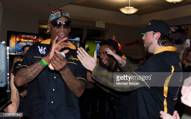 Dennis Rodman arrives at 3rd Annual Mammoth Film Festival Red Carpet Saturday on February 29 2020 in Mammoth Lakes California