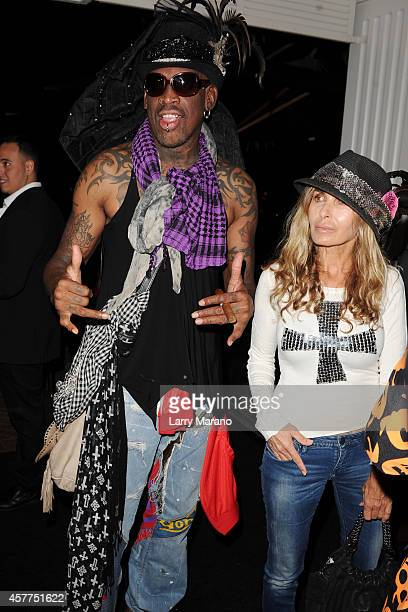 Dennis Rodman attends Fright Night by Berman and Berman Law held at the Blue Martini on October 23 2014 in Boca Raton Florida