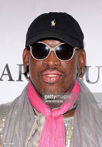 """Dennis Rodman attends """"So You Think You Can Roast?"""" at New York Friars Club on March 15, 2013 in New York City."""