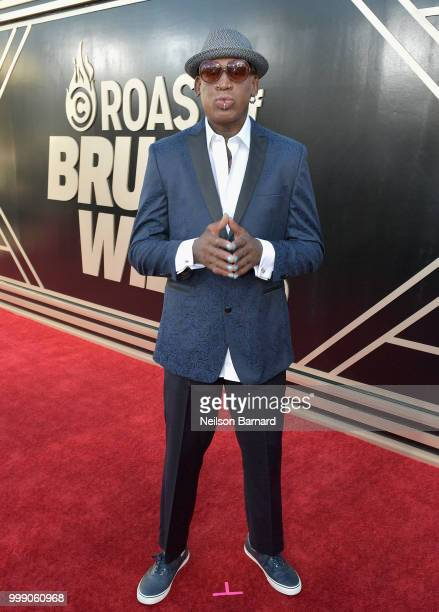 Dennis Rodman attends the Comedy Central Roast of Bruce Willis at Hollywood Palladium on July 14 2018 in Los Angeles California