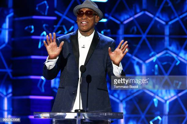 Dennis Rodman attends the Comedy Central Roast Of Bruce Willis on July 14 2018 in Los Angeles California