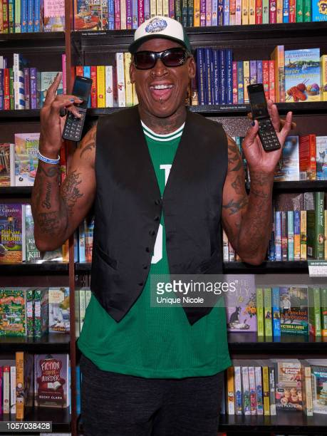 Dennis Rodman celebrates Aiming High How A Prominent Sports And Celebrity Agent Hit Bottom At The Topat Barnes Noble at The Grove on November 3 2018...