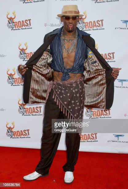 Dennis Rodman during Comedy Central Roast of Pamela Anderson - Arrivals at Sony Studios in Culver City, California, United States.