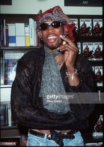 dennis rodman book signing in store appearance for new book bad as i wanna be stock photos and. Black Bedroom Furniture Sets. Home Design Ideas