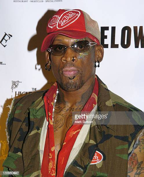 Dennis Rodman during Dennis Rodman's 43rd Birthday Party at The Highlands in Hollywood California United States